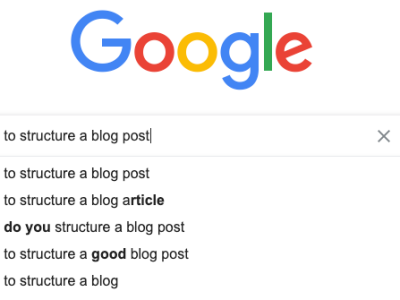 How to structure a blog post Google can easily read.